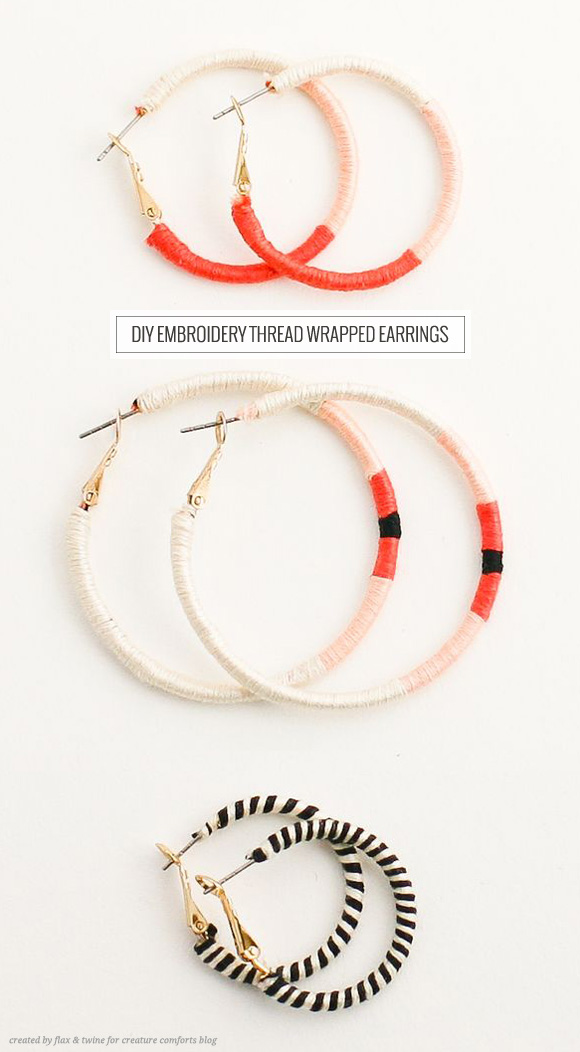 These DIY embroided earings, spotted on the Creature Comforts blog.