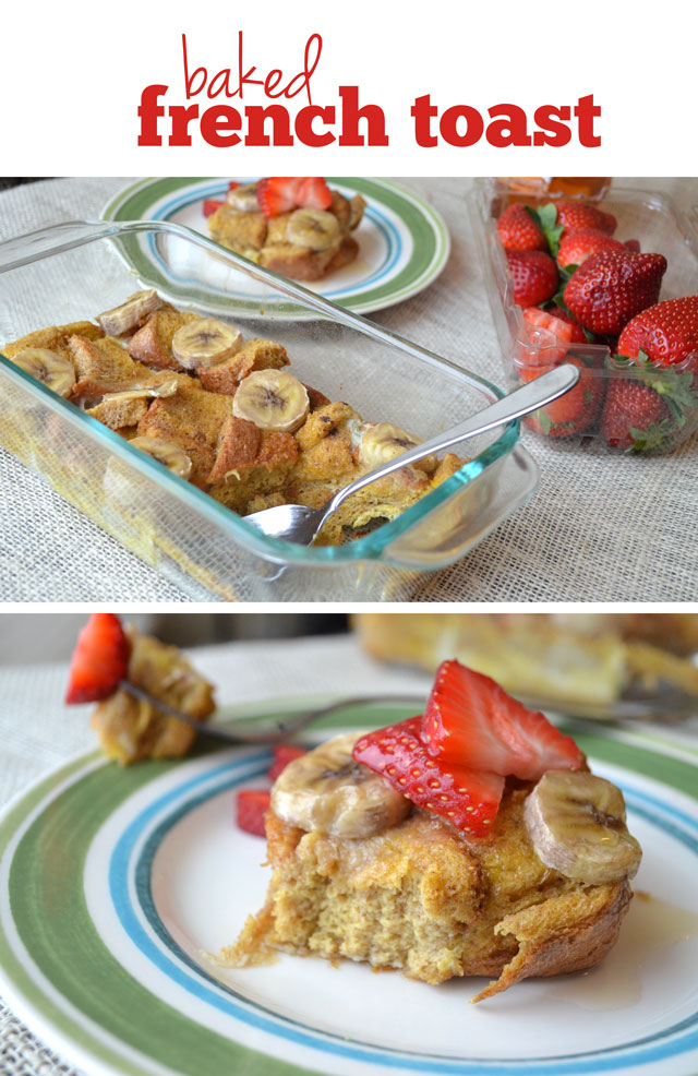 Baked french toast, spotted on Fit Foodie Finds.