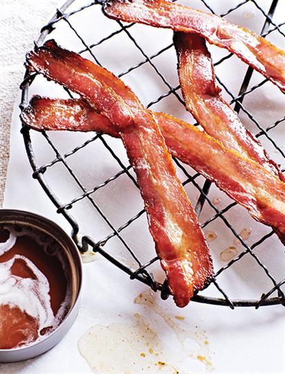 Espresso, maple lacquered bacon