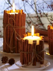Candles and cinnamon