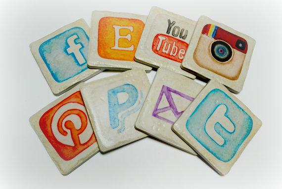 Social media coasters
